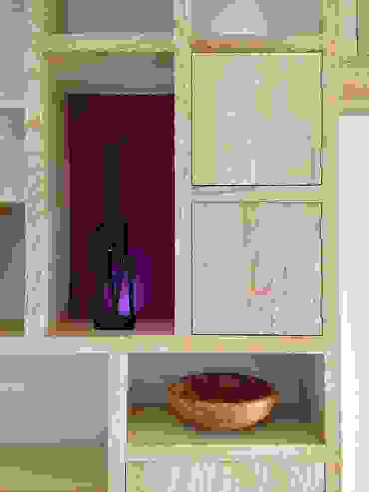 Ash bookcase Modern media room by David Holliday Kitchens Modern