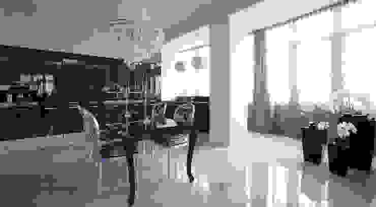 Пространство кухни и столовой зоны Кухни в эклектичном стиле от Студия Максима Рубцова. Эклектичный