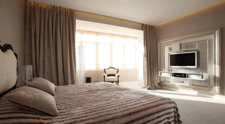 Спальная комната Спальня в эклектичном стиле от Студия Максима Рубцова. Эклектичный