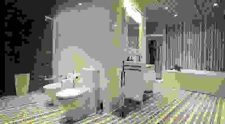 Ванная комната Ванная комната в эклектичном стиле от Студия Максима Рубцова. Эклектичный