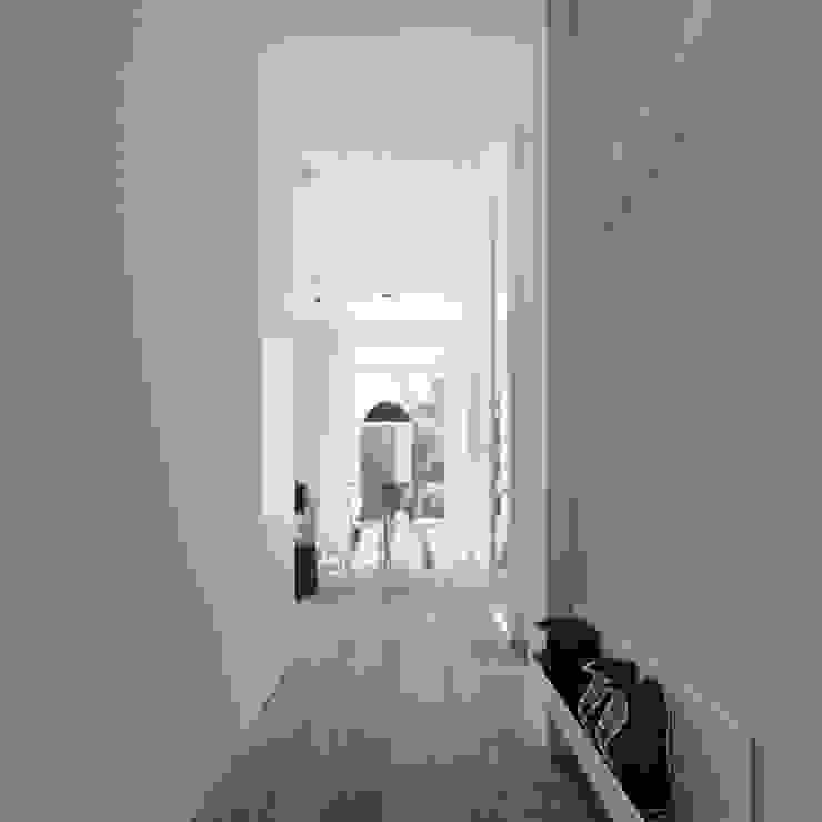MIESZKANIE AB Skandynawski korytarz, przedpokój i schody od 081 architekci Skandynawski
