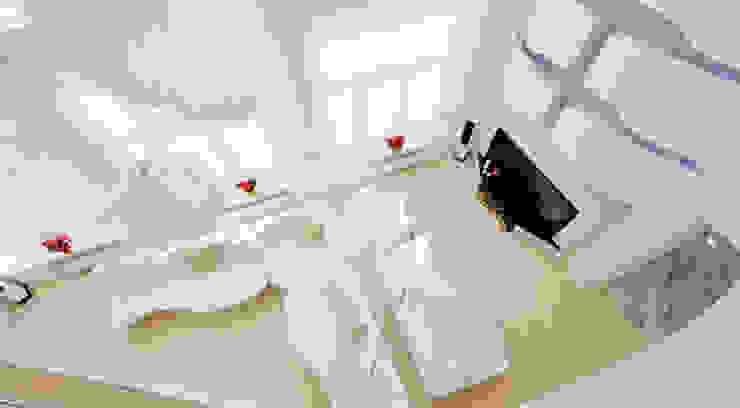 Загородный дом в Подмосковье 1200 кв.м. Гостиная в стиле минимализм от Студия Максима Рубцова. Минимализм