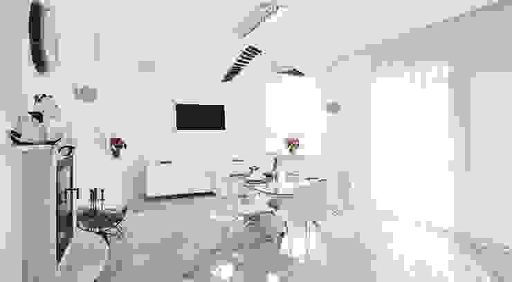 Загородный дом в Подмосковье 1200 кв.м. Кухня в стиле минимализм от Студия Максима Рубцова. Минимализм