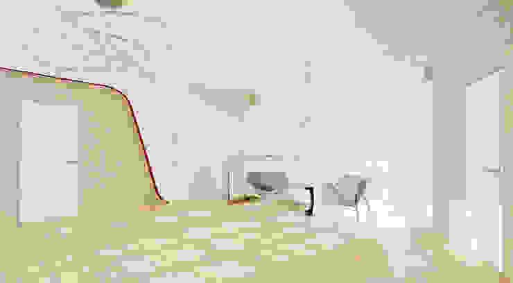 Загородный дом в Подмосковье 1200 кв.м. Коридор, прихожая и лестница в стиле минимализм от Студия Максима Рубцова. Минимализм