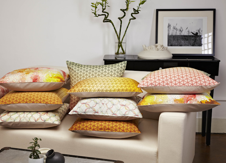 Printed Silk Cushion Collection Nitin Goyal London BedroomTextiles
