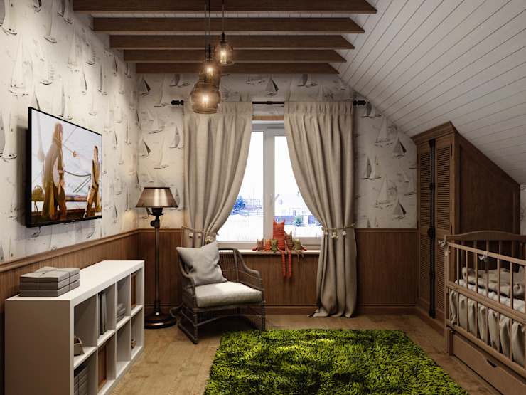 Country style nursery/kids room by HOMEFORM Студия интерьеров Country