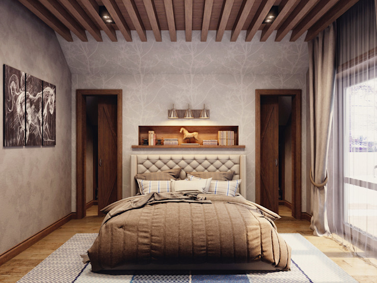 Country style bedroom by HOMEFORM Студия интерьеров Country