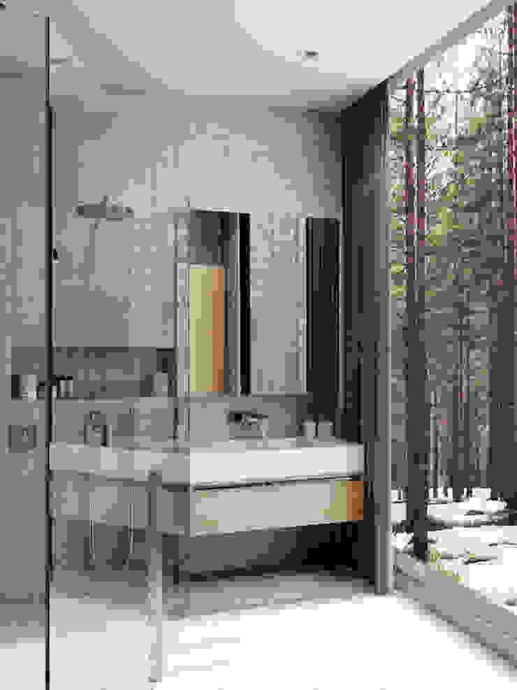 Дом под Зеленогорском Ванная комната в стиле минимализм от HOMEFORM Студия интерьеров Минимализм