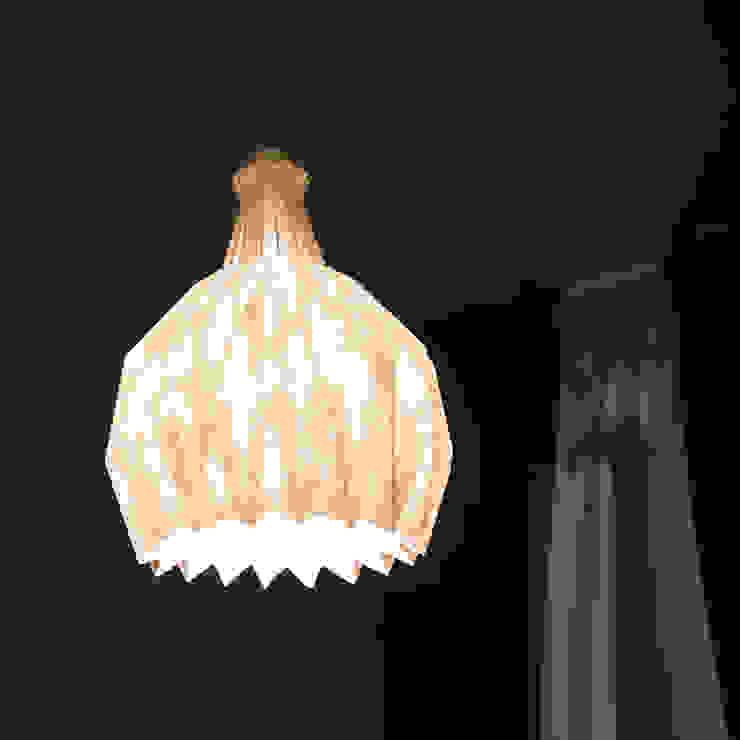 白SHIRO suspension lamp_ orange shading di metrocuadro-design Minimalista