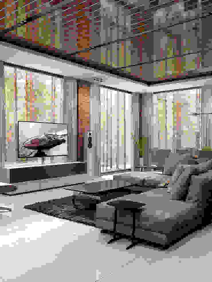 Дом под Зеленогорском Гостиная в стиле минимализм от HOMEFORM Студия интерьеров Минимализм