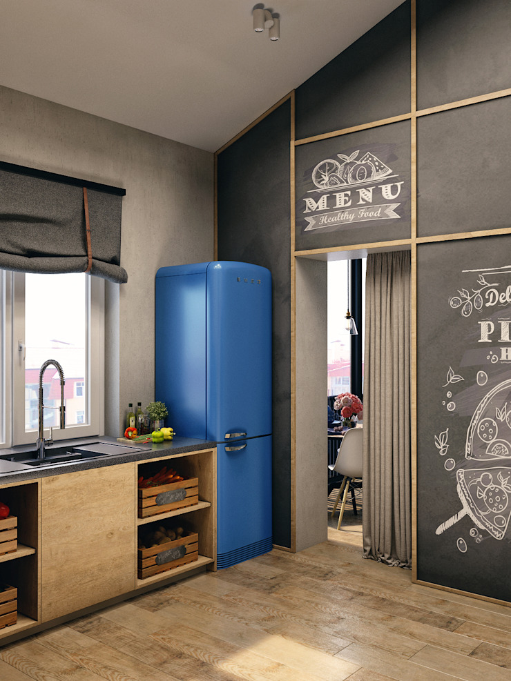 ЖК Еловый дом Кухня в стиле лофт от HOMEFORM Студия интерьеров Лофт