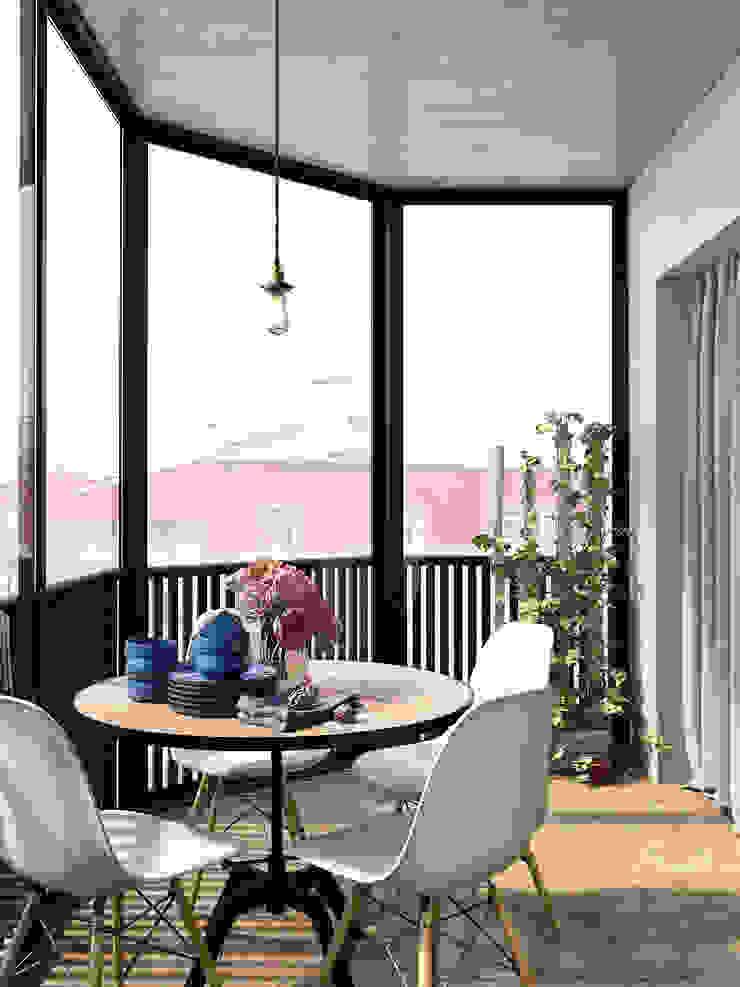 ЖК Еловый дом Балкон и веранда в стиле лофт от HOMEFORM Студия интерьеров Лофт