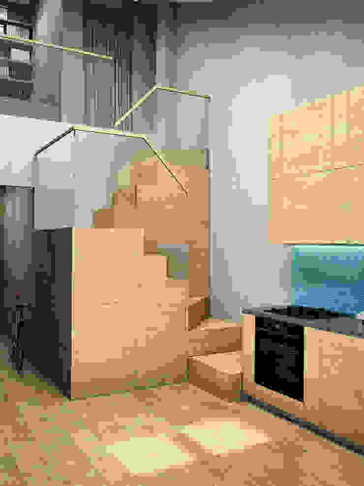 ЖК Еловый дом Коридор, прихожая и лестница в стиле лофт от HOMEFORM Студия интерьеров Лофт