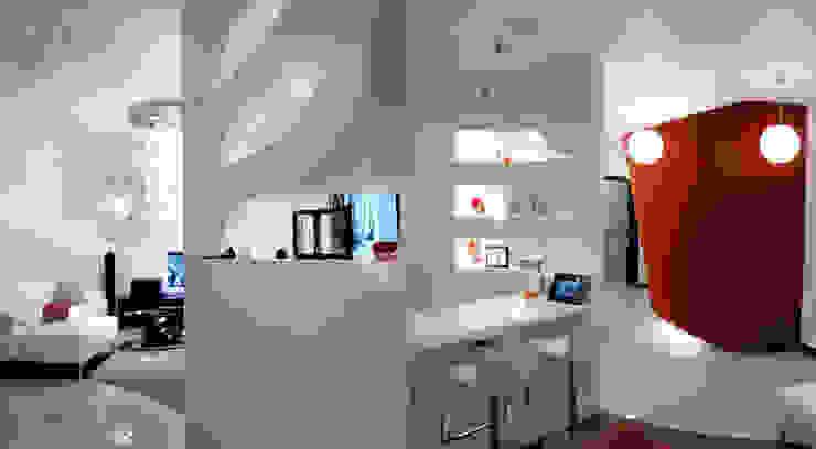 Квартира 145 кв.м. в ЖК <q>Шмитовский</q> Коридор, прихожая и лестница в эклектичном стиле от Студия Максима Рубцова. Эклектичный
