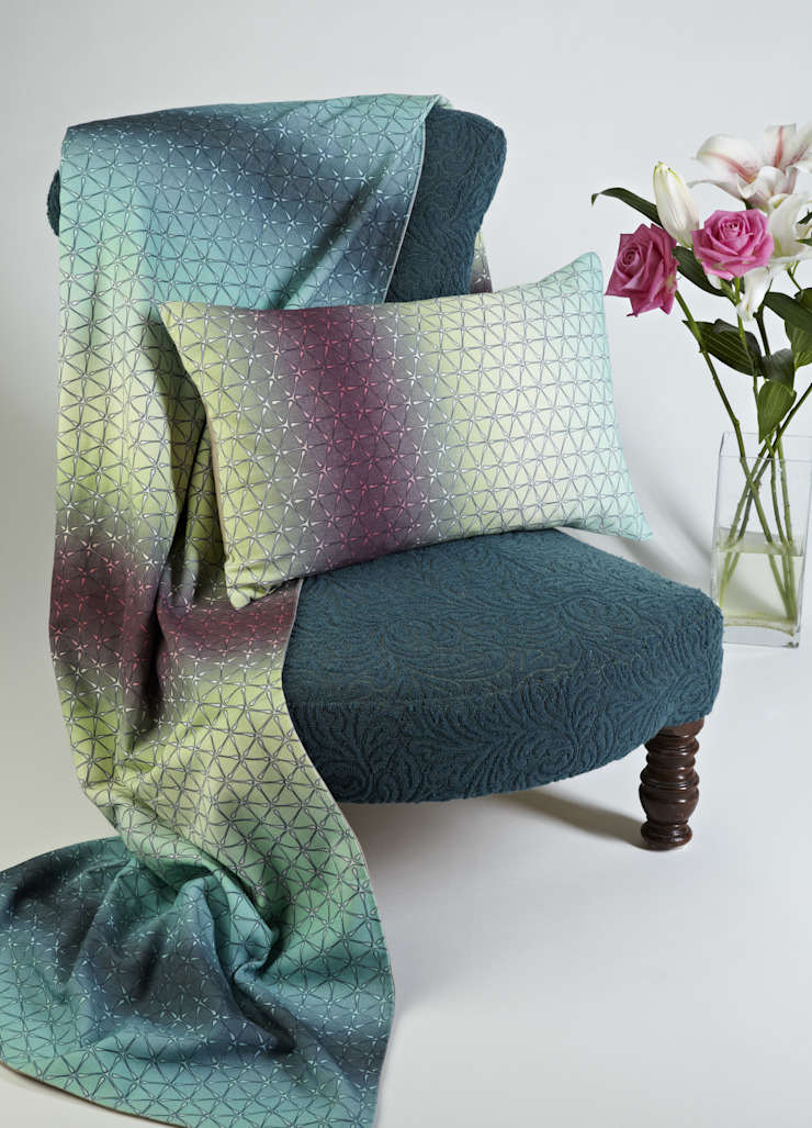 Multi Ombre Geo Silk Collection: modern  by Nitin Goyal London, Modern