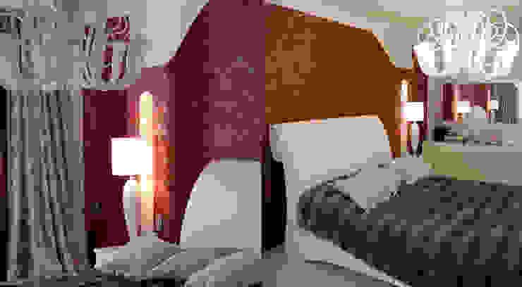 Квартира 145 кв.м. в ЖК <q>Шмитовский</q> Спальня в эклектичном стиле от Студия Максима Рубцова. Эклектичный