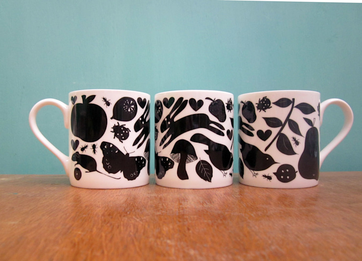 Woodland mug: eclectic  by The Black Rabbit, Eclectic
