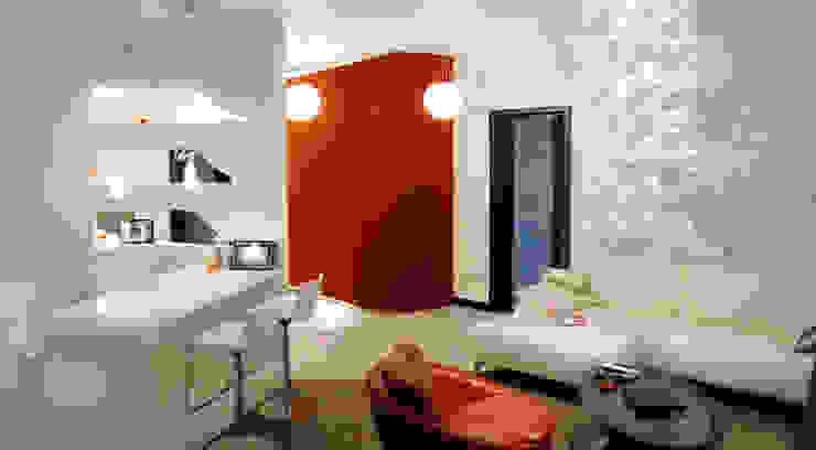 Квартира 145 кв.м. в ЖК <q>Шмитовский</q> Гостиные в эклектичном стиле от Студия Максима Рубцова. Эклектичный