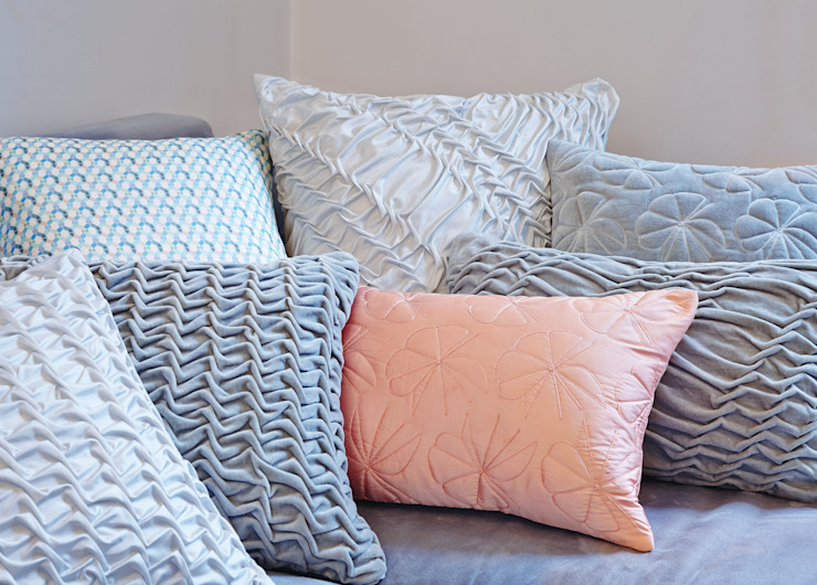 Hand Smocked Cushion Collection Nitin Goyal London BedroomTextiles