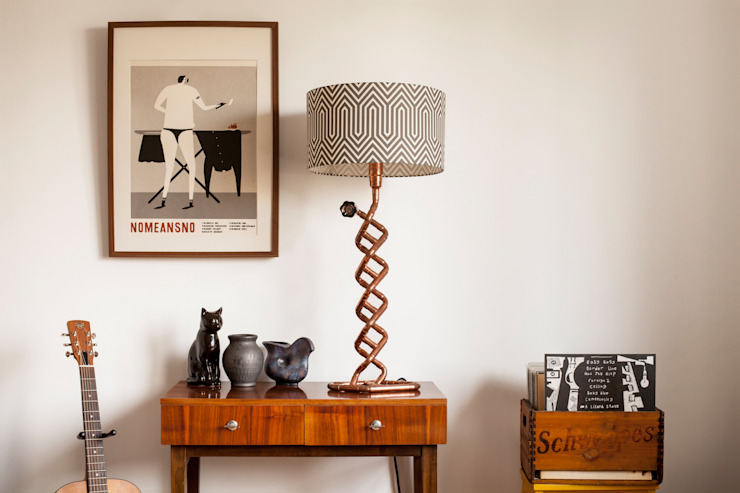 SPIRALO with geometric lampshade homify Corridor, hallway & stairsLighting