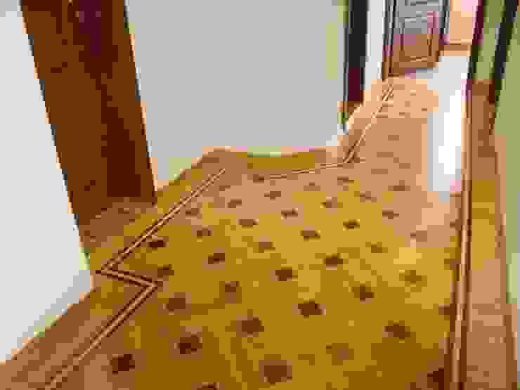 Basket Weave - Parquet Pattern Modern corridor, hallway & stairs by Luxury Wood Flooring Ltd Modern