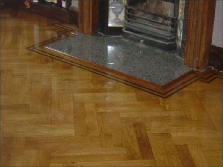 Double Herringbone Oak Parquet flooring Classic style living room by Luxury Wood Flooring Ltd Classic