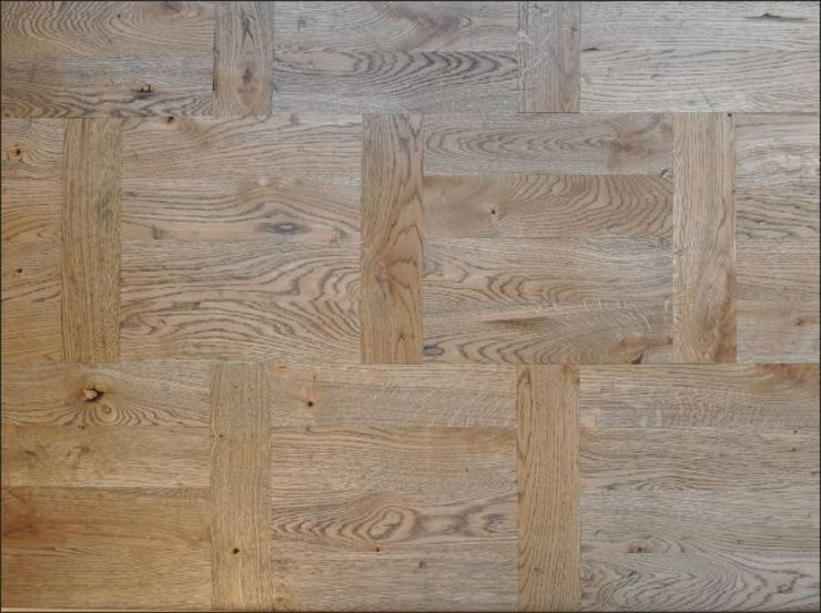Old Dutch Parquet Pattern Rustic style dining room by Luxury Wood Flooring Ltd Rustic