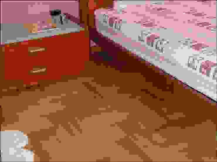 Triple Herring bone Parquet pattern Classic style bedroom by Luxury Wood Flooring Ltd Classic