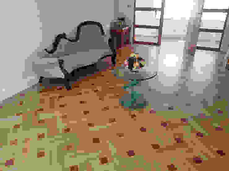 Basket Weave Parquet Pattern Modern living room by Luxury Wood Flooring Ltd Modern