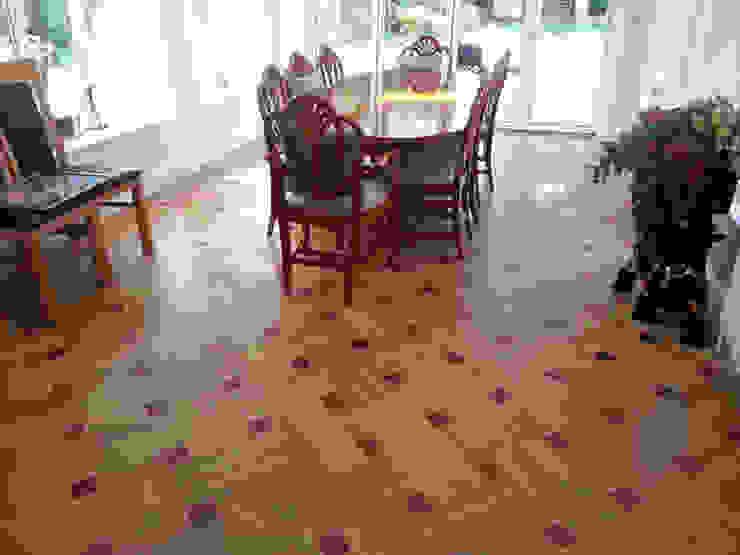Basket Weave Parquet Pattern Modern dining room by Luxury Wood Flooring Ltd Modern