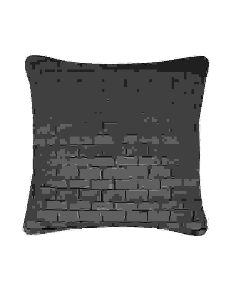 Hand pleated Origami cushion in Gunmetal, 30x50cm: modern  by Nitin Goyal London, Modern