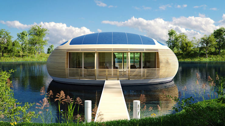 WaterNest Village Case moderne di Giancarlo Zema Design Group Moderno