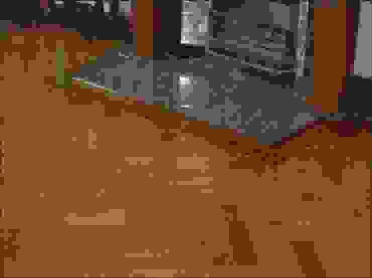 Double Herringbone Oak Parquet flooring Classic style living room by Artistico UK Ltd Classic