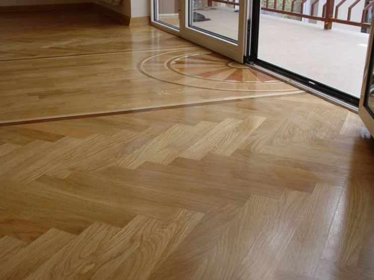 Classic Single Herringbone parquet pattern Classic style living room by Artistico UK Ltd Classic