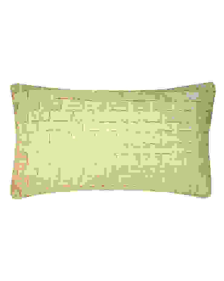 Hand pleated Origami cushion in Cream, 30x50cm: modern  by Nitin Goyal London, Modern