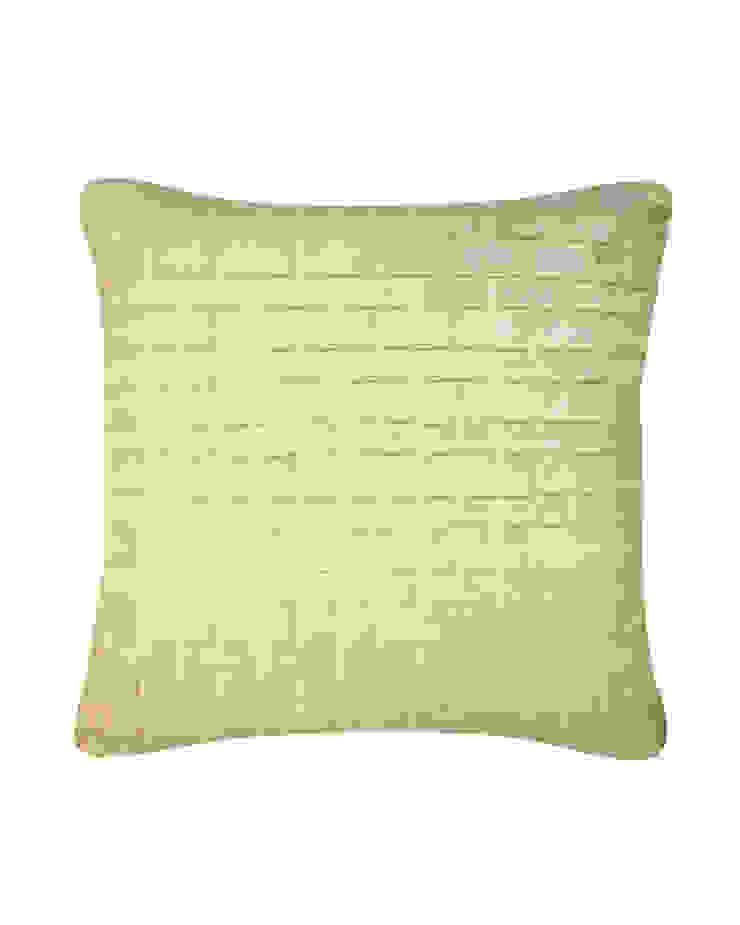 Hand pleated Origami cushion in Cream, 40x40cm: modern  by Nitin Goyal London, Modern