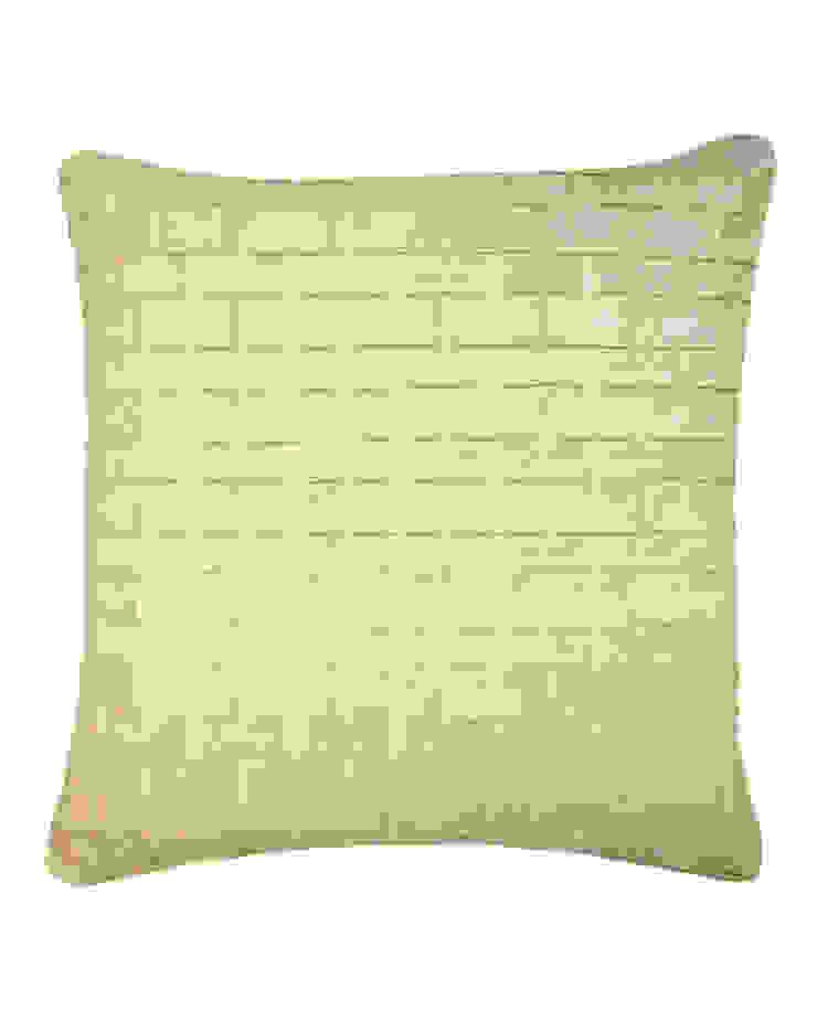 Hand pleated Origami cushion in cream, 50x50cm: modern  by Nitin Goyal London, Modern
