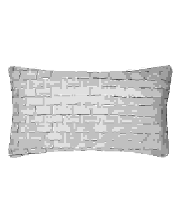 Hand pleated Origami cushion in Silver, 30x50cm: modern  by Nitin Goyal London, Modern