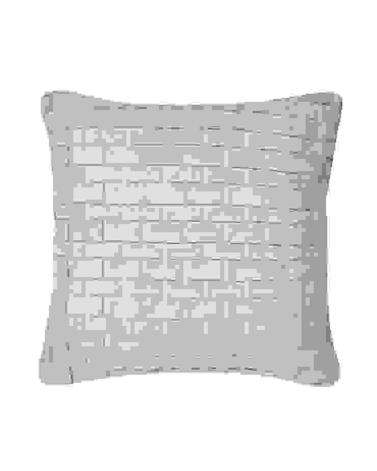 Hand pleated Origami cushion in Silver, 40x40cm: modern  by Nitin Goyal London, Modern