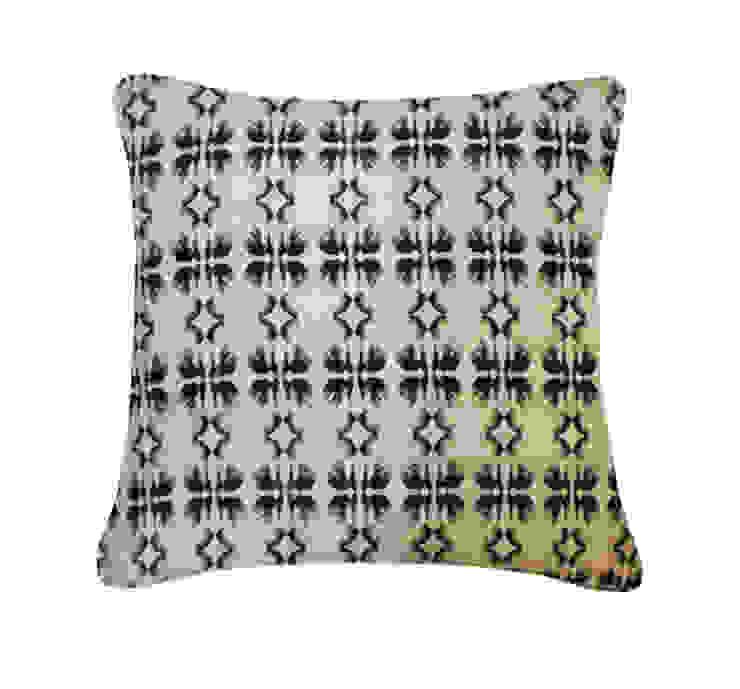 Tulip Silk Cushion in Monochrome, 45x45cm Nitin Goyal London BedroomTextiles