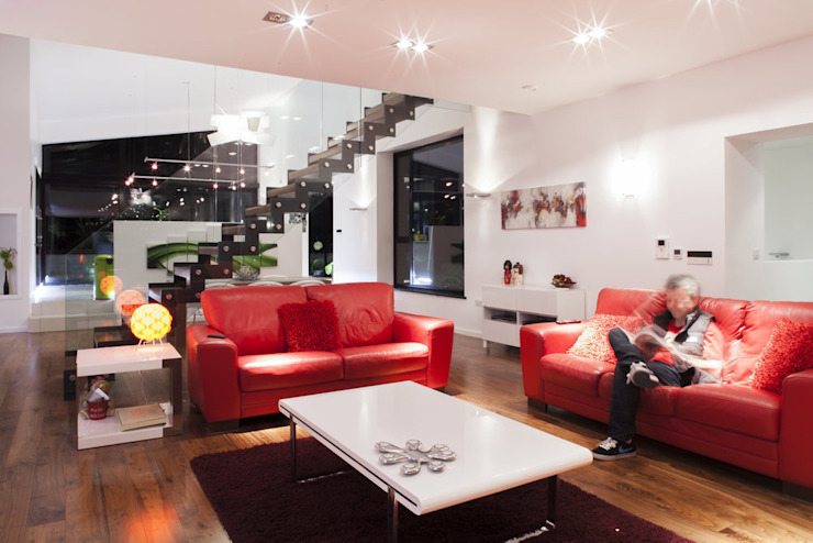 007 House Modern living room by BGA Architects Ltd Modern