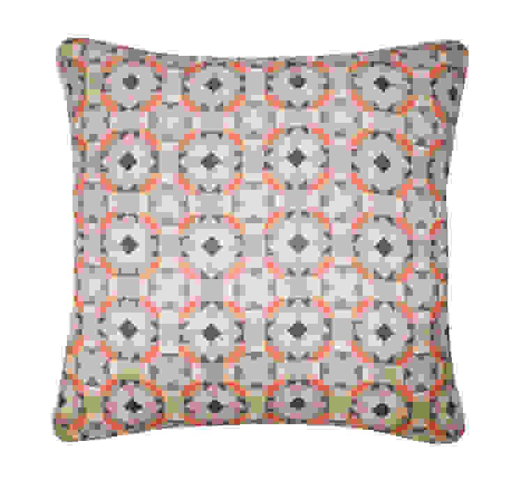 Rubik Silk Cushion in Celadon, 45x45cm Nitin Goyal London BedroomTextiles