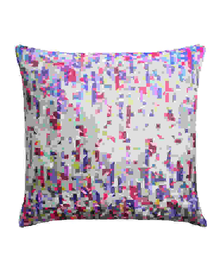 Pixelated Triangles Multi Silk Cushion , 45x45cm Nitin Goyal London BedroomTextiles