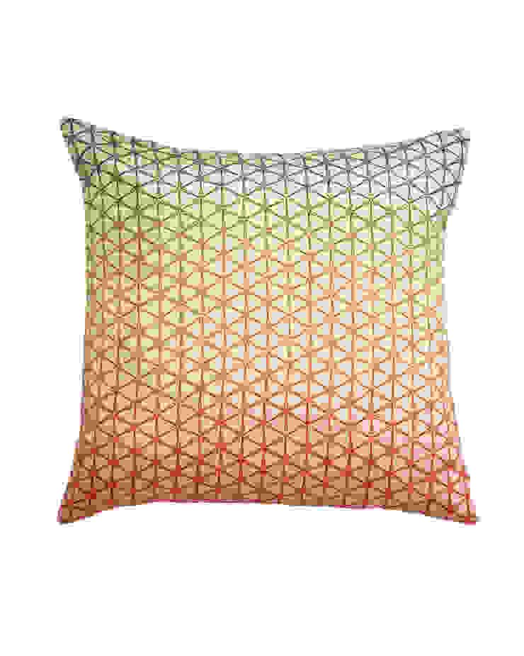 Aqua ombre Geo Silk Cushion, 45x45cm Nitin Goyal London BedroomTextiles