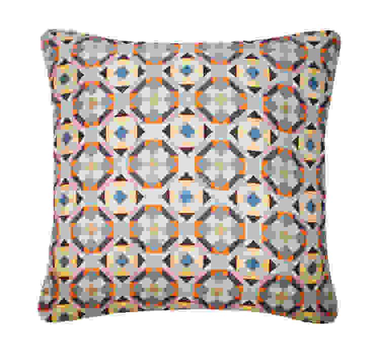 Rubik Silk Cushion in Warm Teal, 45x45cm Nitin Goyal London BedroomTextiles