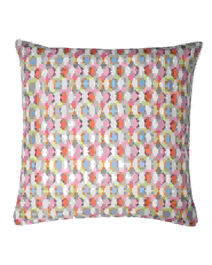 Large Braids Multi Silk Cushion, 45x45cm Nitin Goyal London BedroomTextiles
