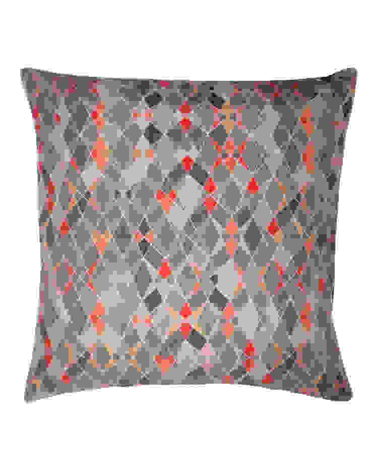 Trio Multi Printed Silk Cushion, 45x45cm Nitin Goyal London BedroomTextiles