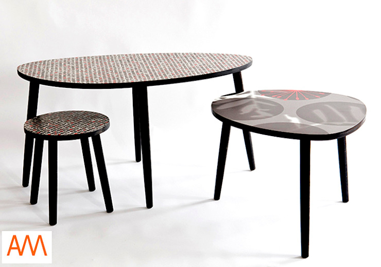 Spot and Dot Formica Tables Modern bars & clubs by Alison Milner Modern