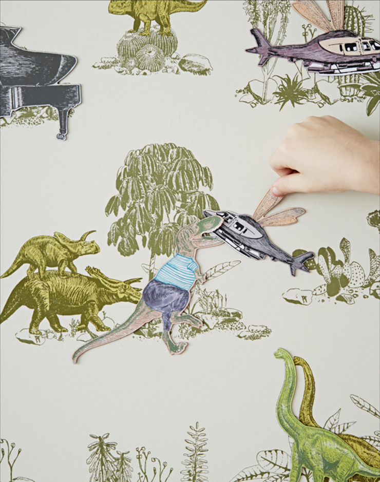 Magnetic Dino Wallpaper Yellow Green: country  by Sian Zeng, Country