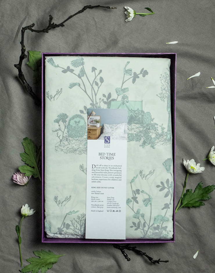 Woodlands Bed linen Packaged: country  by Sian Zeng, Country